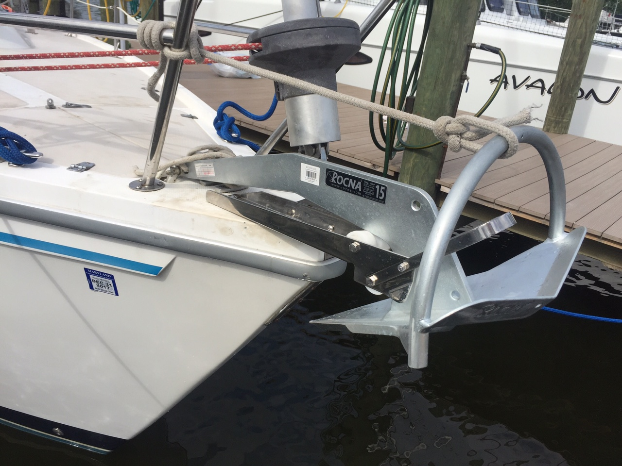 Rocna 15 And Catalina Direct Anchor Roller Z1758