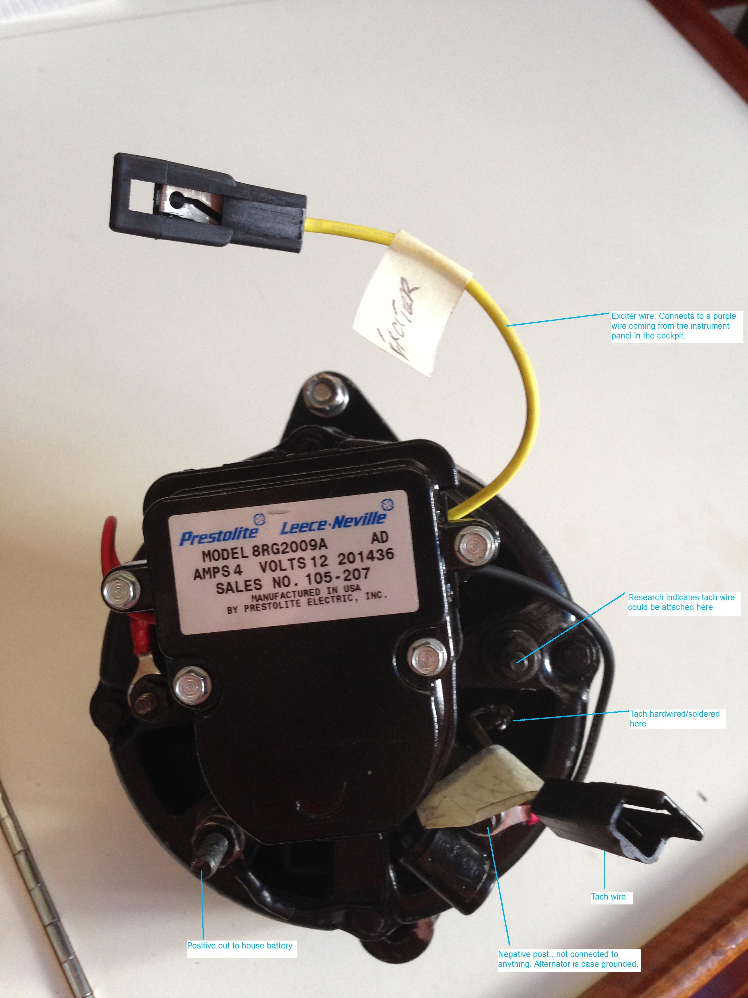 Leece Neville 90amp Alternator Upgrade Catalina 36 375 Exciter Wire Diagram Attachments
